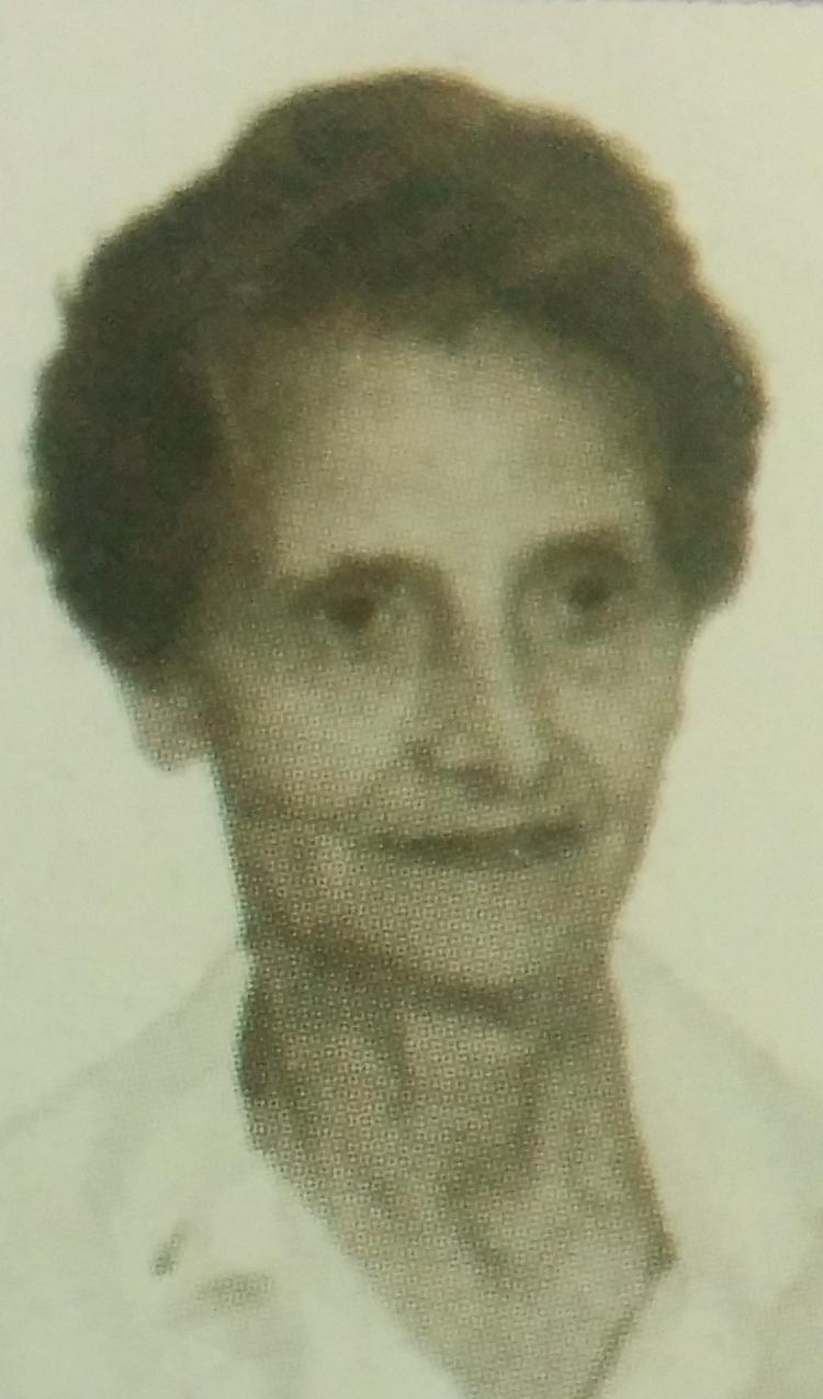 La licenciada, Iris María Lavagna Dabi (1932-2015).