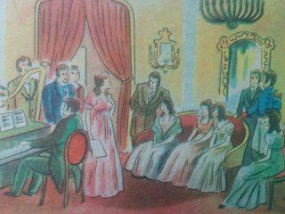 Ilustraciones, de distintos libros de lectura, de escuela primaria, correspondiente a la década de 1940.