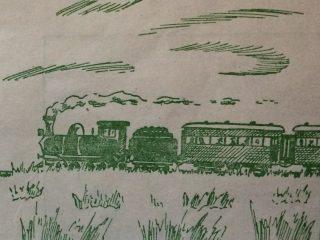 Y un día, claro y pituco, que carburo, en la sesera,  haciendo mucho bochinche, el tren cruzó la pradera…