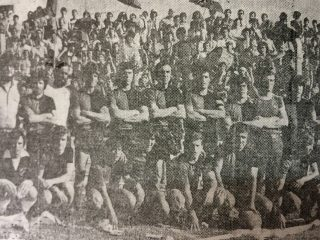El equipo de Colón, en 1980.