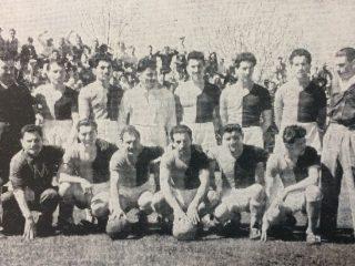 El equipo de Colón, que se consagró campeón de fútbol, en 1933.