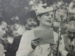 La señorita María Antonia Oyuela.