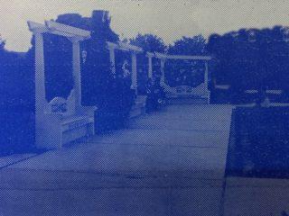 La plaza España de Chivilcoy, cuyas obras de restauración y embellecimiento, se inauguraron el 22 de octubre de 1940.