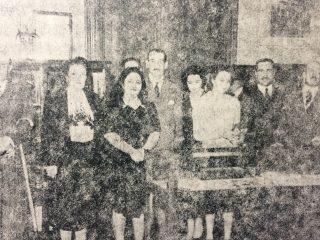 Inauguración del Museo Histórico Municipal, en la sala del Honorable Concejo Deliberante, el 22 de octubre de 1943.