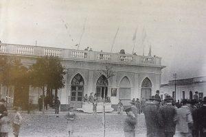 La plaza principal 25 de Mayo a principios del siglo XX.