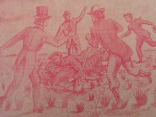 Representación de la ceremonia fundacional de Chivilcoy, el domingo 22 de octubre de 1854, en un magnífico trabajo creativo y recreativo, del gran dibujante, Agustín Domingo Guasco, realizado en 1946.