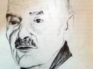 Retrato al lápiz del Dr. Raúl María Gutiérrez, que realizó el eximio médico cirujano y artista plástico, Dr. Daniel Emilio Pastorino.