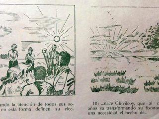 Historieta de la fundación de Chivilcoy, realizada por el dibujante, Lorenzo, en el año 1950.