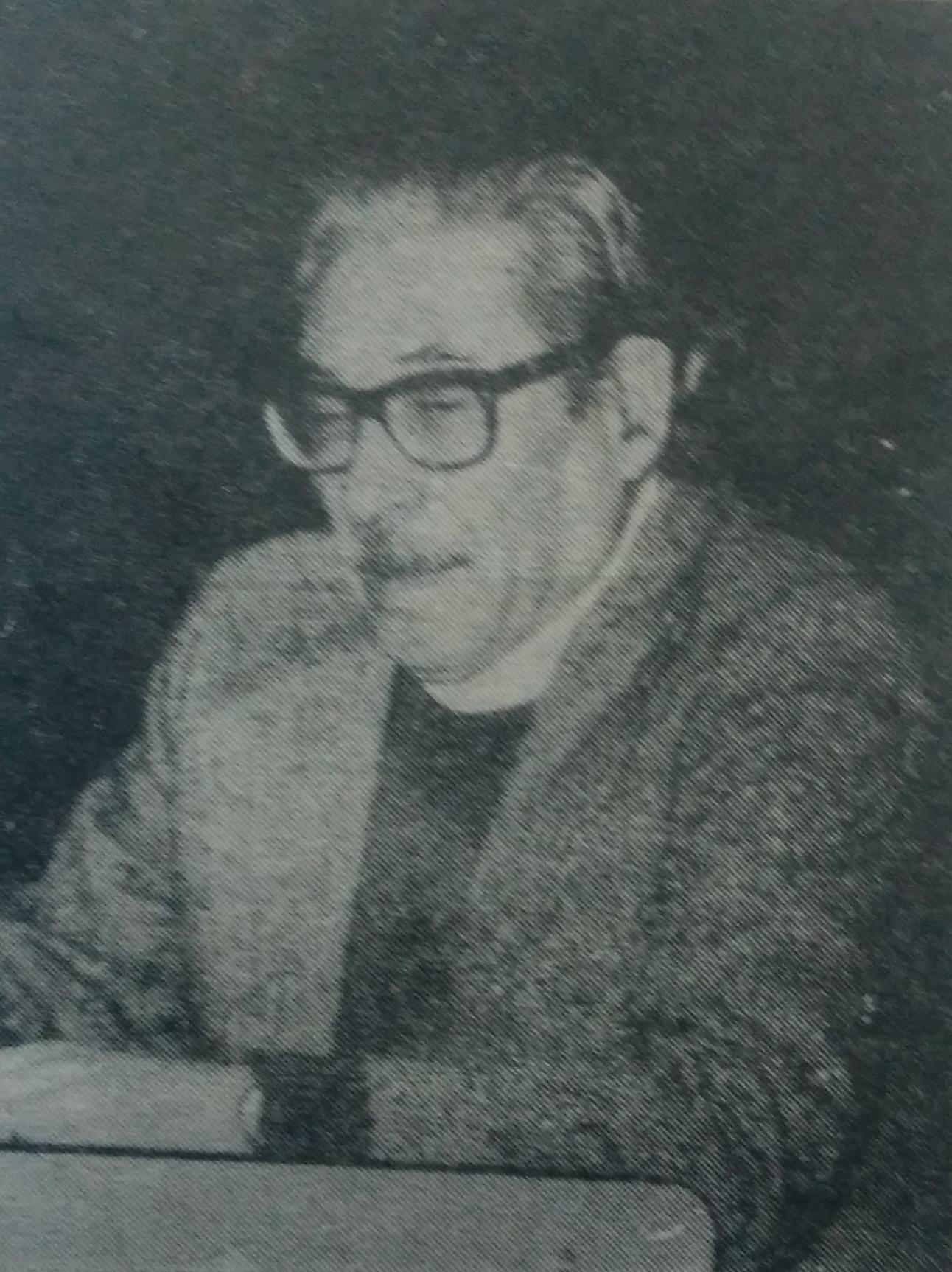 El escritor, artista plástico y docente, David Almirón (1923-2001).