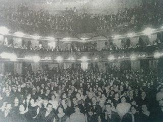 La sala del Teatro Español, en una función del 12 de octubre de 1920.