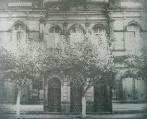 El Teatro Español, en una estampa fotográfica, de la década de 1930.