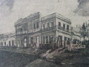 """El barrio de la ya desaparecida, Estación Ferroviaria """"Norte"""", a través de un óleo, del destacado artista plástico chivilcoyano, José Antonio Speranza."""
