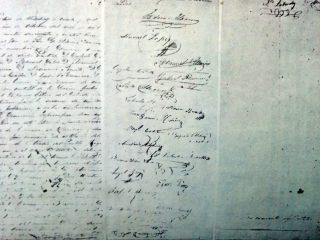 El Acta Fundacional de Chivilcoy, redactada por Don Manuel Villarino, aquel histórico y memorable domingo 22 de Octubre de 1854, a las cinco de la tarde.