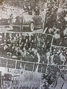 Los imponentes y multitudinarios festejos, del Centenario de Chivilcoy, el Viernes 22 de octubre de 1954. Estuvo presente, el gobernador de la provincia de Buenos Aires, mayor Carlos Vicente Aloé.