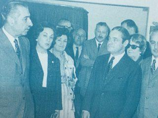 Inauguración, de las obras de ampliación del edificio de ALPI (Asociación de Lucha contra la Parálisis Infantil), en la calle Salta Nº 110. El acto se realizó, el 22 de octubre de 1969, bajo el gobierno municipal del ingeniero José María Ferro.