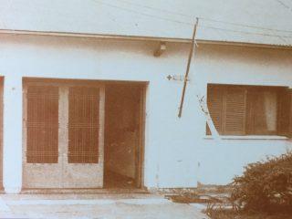 Fachada del edificio de la Asociación de Lucha contra la Parálisis Infantil (ALPI), en la calle Salta Nº 110. Dicha institución, se fundó el 26 de septiembre de 1958, y se disolvió, a fines de 1999.