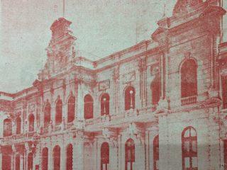 El Palacio Municipal, en una fotografía de 1958.
