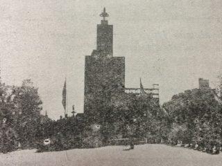 El Monumento a los Fundadores, en octubre de 1958.