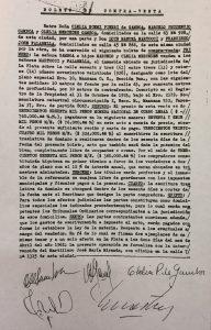 """Boleto de Compraventa, de la """"Casa  de Chivilcoy"""", en la ciudad de La Plata, el 12 de abril de 1961."""