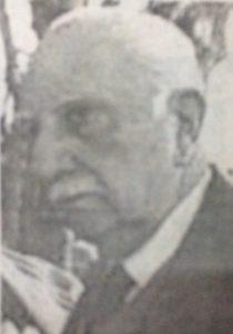 El Dr. Oscar Eduardo Alende (1909-1996), ex gobernador de la provincia de Buenos Aires, entre 1958 y 1962. Visitó nuestra ciudad, los 22 de octubre, de 1958 y 1961.
