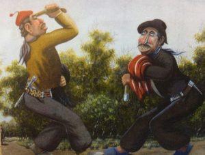 Ilustraciones gauchescas de Florencio Molina Campos.