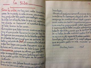 Páginas manuscritas, de Don Pedro Nicolás San Mauro, en unos cuadernos de los años 1963 y 1965. Se puede advertir, en esos textos, de puño y letra, la excelente caligrafía de Don  Pedro Nicolás San Mauro, que los escribió, cuando contaba con 90 años de edad.