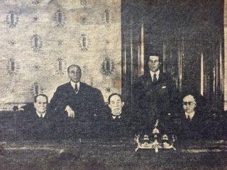 El Dr. Antonio Bermejo, junto a los otros magistrados integrantes, de la Corte Suprema de Justicia de la Nación. Eran en total, 7 jueces. El Dr. Bermejo, presidió la Corte, desde 1905, hasta su fallecimiento, en 1929.