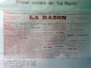 Primer número del diario «La Razón», correspondiente al miércoles 16 de noviembre de 1910.