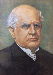 Domingo Faustino Sarmiento (1811-1888), autor del proyecto de Ley de Tierras, del Partido de Chivilcoy, que se sancionó el 13 de octubre de 1857, en la Legislatura de la provincia de Buenos Aires. Sarmiento, ocupaba un banca de Senador.