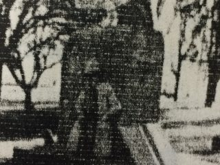 """Centro de la plaza """"Martín Fierro"""", del Barrio Obrero, de Chivilcoy. Puede observarse, el monumento a José Hernández, del artista local, Daniel Errante, que se había inaugurado, en el mes de noviembre de 1988. Demolido, posteriormente, en dicho lugar, se levanta, el monumento al Gaucho, una obra del notable escultor local, Osvaldo Néstor López, inaugurada el 6 de diciembre de 2007, en el """"Día Nacional del Gaucho""""."""