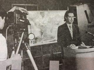 El conocido meteorólogo local, Marcelo Speranza.