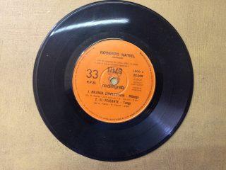 Placa discográfica, con el tema «Milonga Chivilcoyana», que interpreta el gran cantante de tango, Roberto Natiel. Dicho disco, se presentó, en la Biblioteca Popular «Dr. Antonio Novaro», el 4 de abril de 1981.