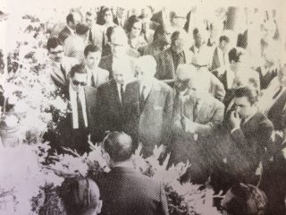 Homenaje a la figura del Dr. Alejandro Osvaldo Suárez, en 1968, al cumplirse el 25 aniversario de su fallecimiento. En la ceremonia, estuvieron presentes, los Dres. Arturo Umberto Illia y Carlos H. Perette, ex presidente y vicepresidente, de la Nación, desde 1963  hasta 1966.