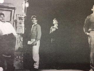 Debut del elenco dramático, del Teatro El Chasqui, en las instalaciones del Club Racing, el 4 de junio de 1960.