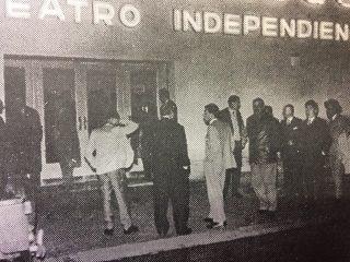 Inauguración de la sala del Teatro «El Chasqui», ubicada en la calle Gral. Rodríguez Nº 70, el 19 de mayo  de 1962.