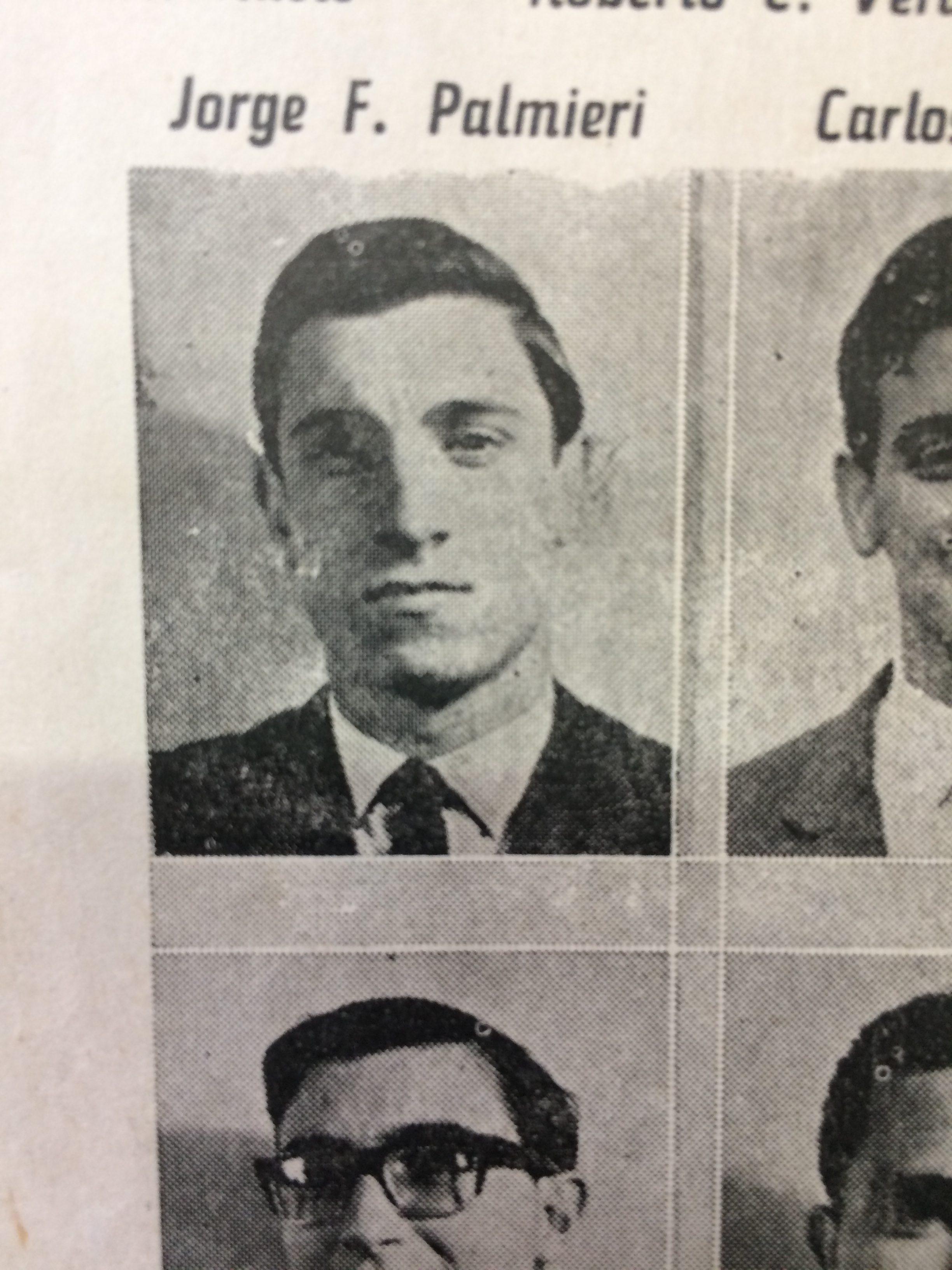 El Dr. Jorge F. Palmieri, integrante de la promoción 1963, del Colegio Nacional «José Hernández», de Chivilcoy.