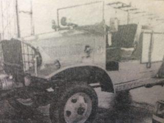 Antigua autobomba, del cuerpo de Bomberos Voluntarios de Chivilcoy, que data del año 1947.