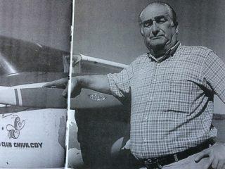 Horacio Gerardo Quinto, singular figura propulsora del Aero Club Chivilcoy. Fue elegido presidente de la institución el 29 de diciembre de 1976.