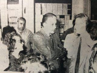 El Dr. Favaloro, en su visita a Chivilcoy, el 25 de noviembre de 1994.