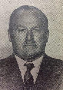 El caracterizado y prestigioso empresario alemán, Don Francisco Huber (1883-1963), fundador, en el año 1920, de un importante fábrica de quesos, en la localidad rural de San Sebastián.