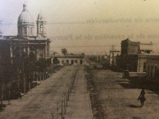 Imagen de la Iglesia del Rosario, hacia el año 1908.