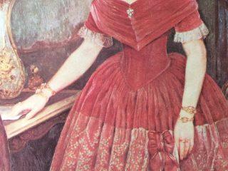 Retrato al óleo, Manuelita Rosas, pertenecientes al gran pintor argentino, Prilidiano Pueyrredón (1823-1870).