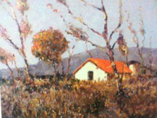 Óleo: «Rancho en la pradera».