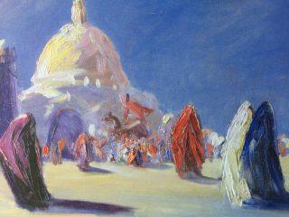 Óleo titulado: «Marruecos» .