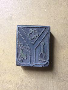 Cliché, utilizado en la Imprenta Municipal.