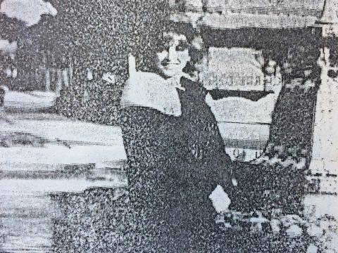 Violeta Rivas, en Chivilcoy, en septiembre de 1980.