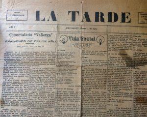 """El diario """"La Tarde"""", que salió a luz, el 2 de enero de 1923, y tuvo una breve existencia periodística. Aquí , rescatamos, seguramente, el único ejemplar que hoy, se conserva..."""