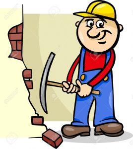 20483500-Ilustraci-n-de-dibujos-animados-de-hombre-trabajador-o-Workman-Demoler-pared-de-ladrillo-con-un-hach-Foto-de-archivo