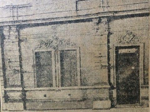 """Postal chivilcoyana, de 1926 (Fachada de la Biblioteca Popular """"Dr. Antonio Nováro"""", en su antigua sede institucional, de la calle Gral. Frías Nº 36″."""