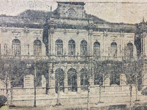 Postal chivilcoyana, de 1926 (El Palacio Municipal, de nuestra ciudad).